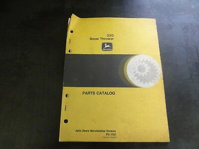 John Deere 320 Snow Thrower Parts Catalog  Pc-1707