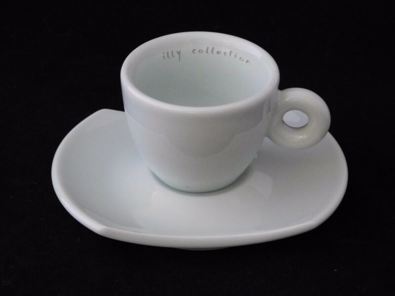 Illy Espresso Cup & Saucer by Daniel Buren Collection Pastel Green Made in Italy