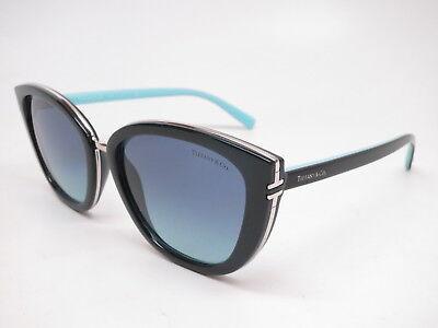 Tiffany & Co TF 4152 8001/9S Black w/Azure Blue Gradient (Tiffany Mens Sunglasses)