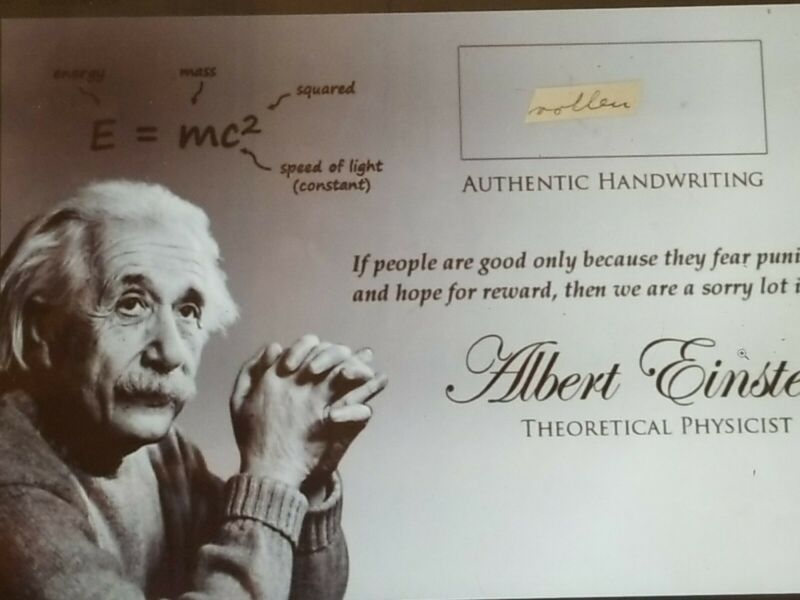 albert einstein authentic handwriting hand written word jsa coa signed cut real