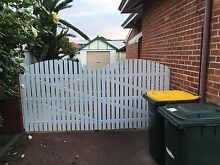 Wooden gate white picket fence Lathlain Victoria Park Area Preview
