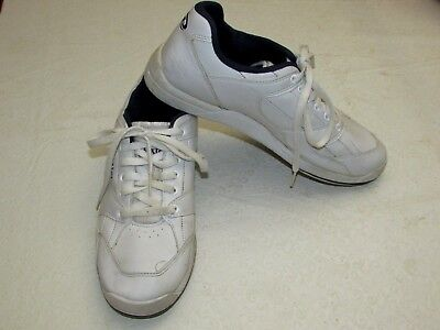 b0ce02a47c6e3 DEXTER Ricky II White Leather Bowling Shoes ~ Sz 9.5