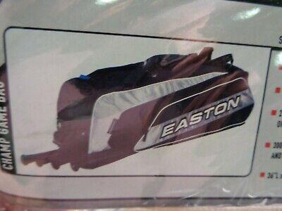 NEW EASTON CHAMP BASEBALL MIDSIZE GEAR BAT BAG BLACK AND WHITE