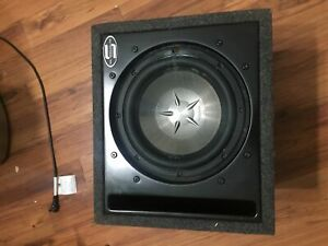 "Clarion 10"" subwoofer in ported box"