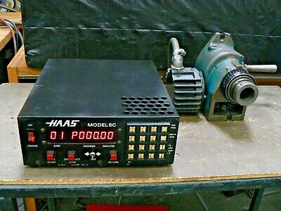 Haas 5c 7 Pin Rotary Indexer 4th Axis Manual Closer And Controller Tested Good