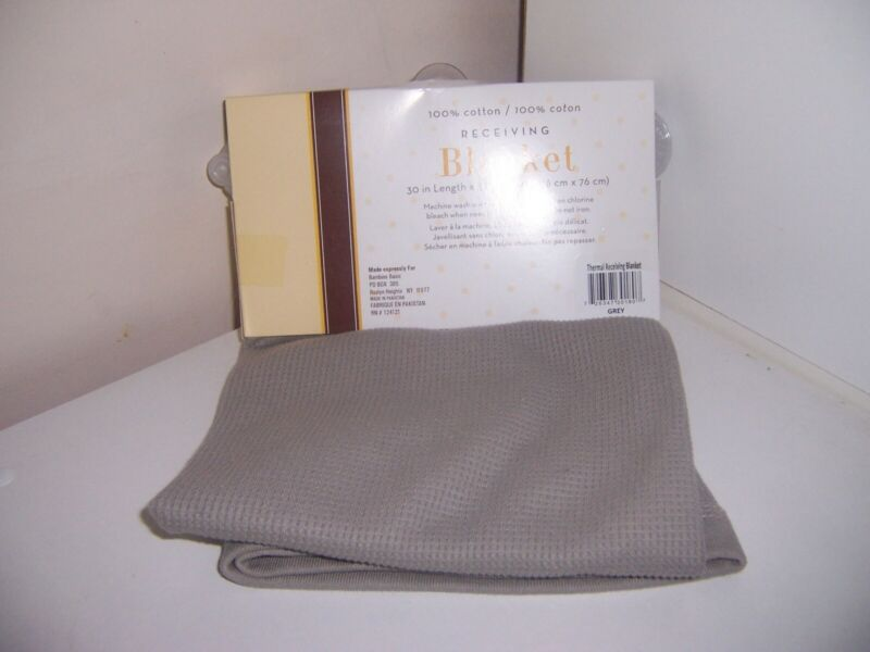 thermal knit receiving blanket 100% cotton new