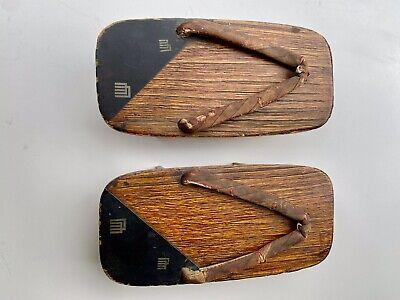 Pair Of Japanese Geta Vintage Wooden Sandals