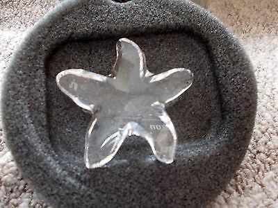 New Swarovski Silver Crystal Starfish retired 2003 Mint Condition