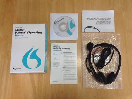 Dragon Naturally Speaking Home Ver 13 Software with headset