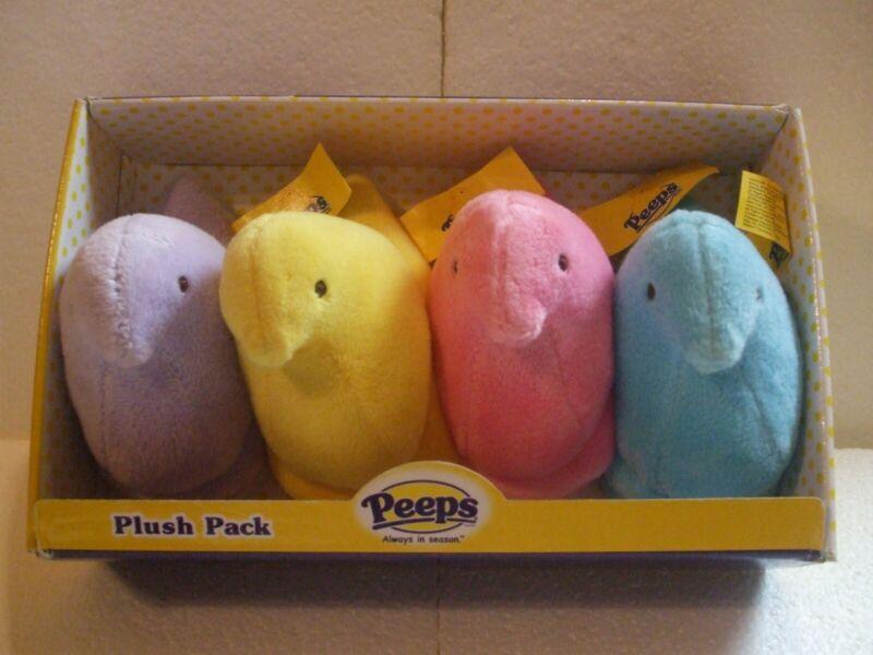 PEEPS EASTER TOYS 2010 COMMONWEALTH MINI PLUSH PAK CHICKS SET BRAND NEW!