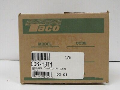 Taco 006-hbt4 Circulator Pump Bronze 34npt 115v