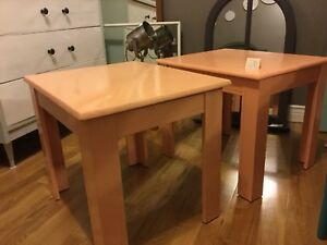 Orange side table set