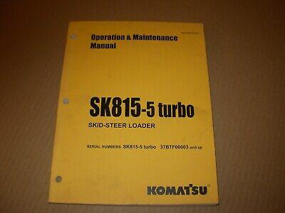 Komatsu Sk815-5 Turbo Skid Steer Loader Operation Maintain Manual 37btf00003 Up