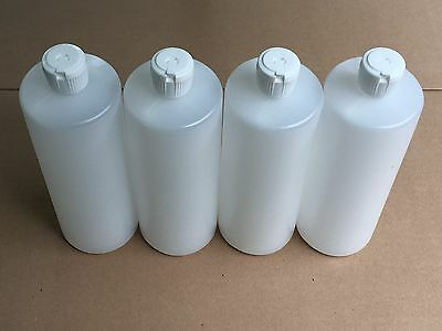 4   32 Oz HDPE Plastic Bottles 4 Count with Squeeze Top Reusable
