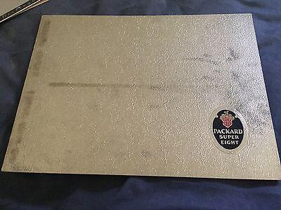 1934 Packard Super Eight Large Prestige Color Catalog Brochure Prospekt