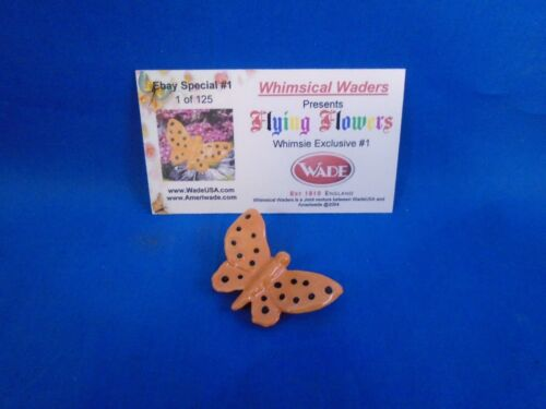 2004 Wade Whimsies Flying Flowers Orange & Black Butterfly LE 125 Wimsical Wader