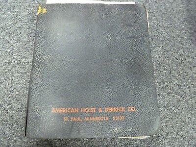 American Hoist 999 Lattice Boom Crawler Crane Parts Catalog Manual