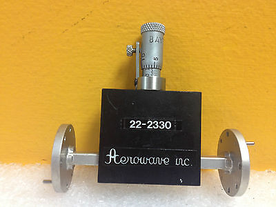 Aerowave Inc 22-2330 Wr-22 33 To 50 Ghz Variable Waveguide Phase Shifter