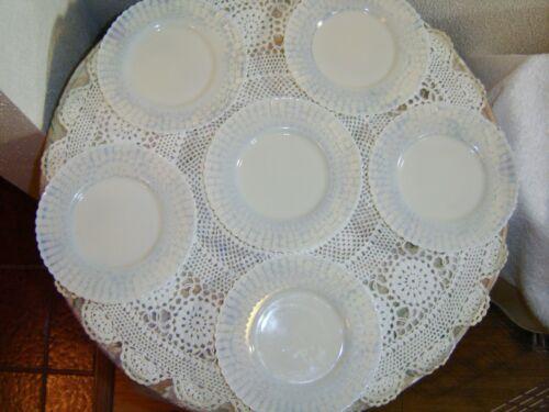 "6 MacBeth-Evans Petalware Monax White 6.1/4""  Plates"