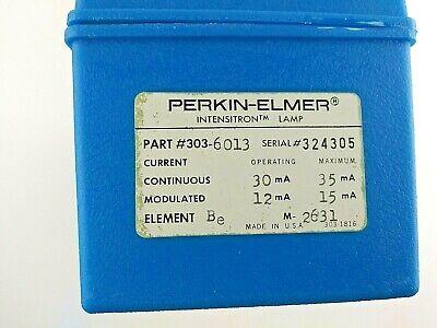 Perkin Elmer 303-6013 Beryllium Be Intensitron Lamp For Atomic Absorption Spec