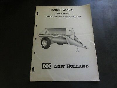 New Holland 344 345 Manure Spreader Owners Manual