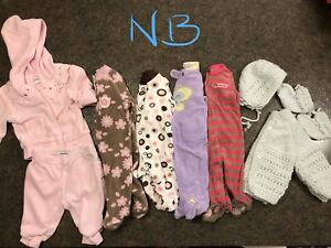 NB and 0-3 baby girl winter clothes lot