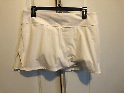 """NEW Lululemon White Quick Pace Skirt Skort 13"""" w Liner Shorts Sz 10 NWOT"""