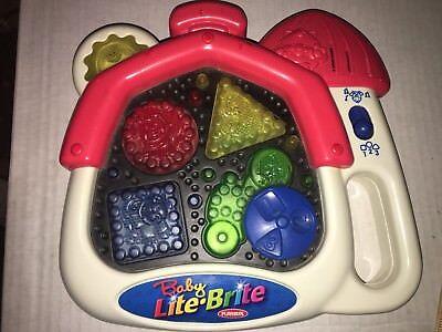1999 Playskool Baby Lite Brite Lights Sounds Hasbro
