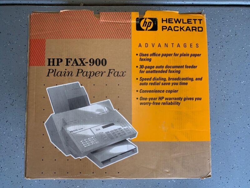 Vintage Hewlett Packard HP FAX-900 plain paper fax NIB