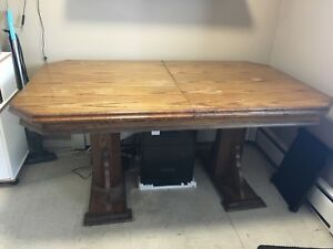 Large family dining table plus 4 chairs!