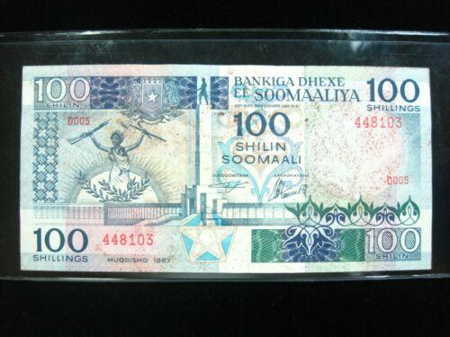 SOMALIA 100 SHILLING 1983 SOOMAALIYA 03# CURRENCY BANKNOTE MONEY