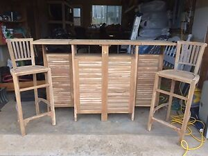 Wine Bar / Liquor Cabinet/ Sideboard with Bar Stools SOLD PPU