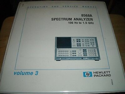 Hp 8568a Spectrum Analyzer 100 Hz To 1.5 Ghz Operating And Service Manual Vol 3