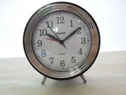 Sharp Model SOC836A Quartz Analog Alarm Clock Progressive Beep Alarm