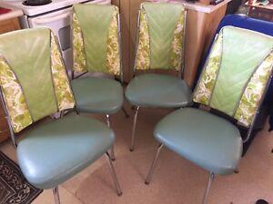 Vintage retro kitchen chairs.