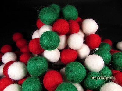 F119 Christmas Decoration Felt Balls Pom Pom 2cm Wool DIY Garland Beads Nepal ()