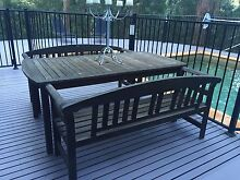5 piece solid timber outdoor setting Beecroft Hornsby Area Preview