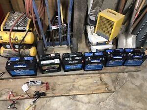 6 Marine battery's in excellent shape!