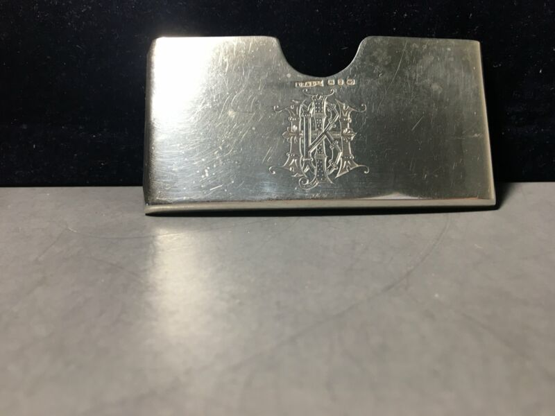 Antique S. Blanckensee & Sons Ltd. Sterling Silver Card Holder c.1898