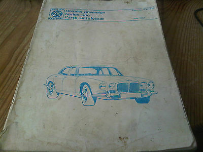 Daimler Sovereign Series One Parts Catalogue Manual July 1974 RTC9107