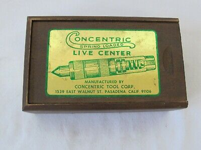 Concentric Live Center W 3mt Shank In Original Box Machinist Tool