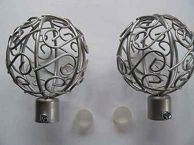 Job Lot Of 10 Packs Of 2 Beautiful Metal Curtain Pole Cage Finials New & sealed