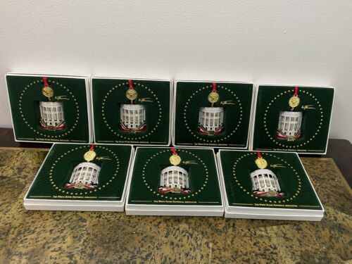 Lot Of 7 The White House Historical Association Christmas Ornament 2018