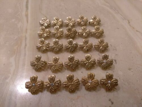 Vintage 10k Solid Yellow Gold Clover Leaf 4H Lapel Pins. Average 1 gram each!