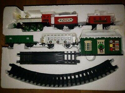 Vintage New Bright Santas Musical Express Christmas Train Set ElectronicSounds