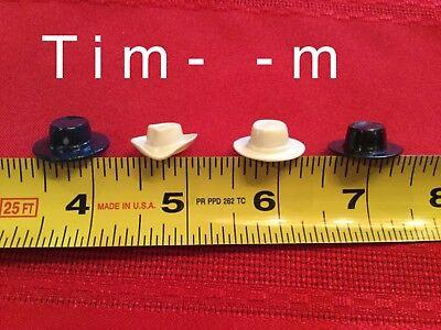 4 Custom Mini Hats for the Hartland Mini Figures Cowboys