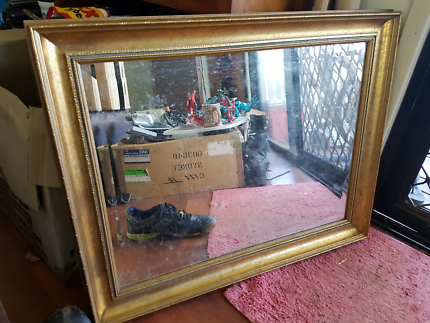 73cm wide gold framed mirror