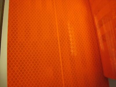 3m Brand Neon Orange Reflective  Conspicuity Tape 5-78 X 12 Ft Very Thick
