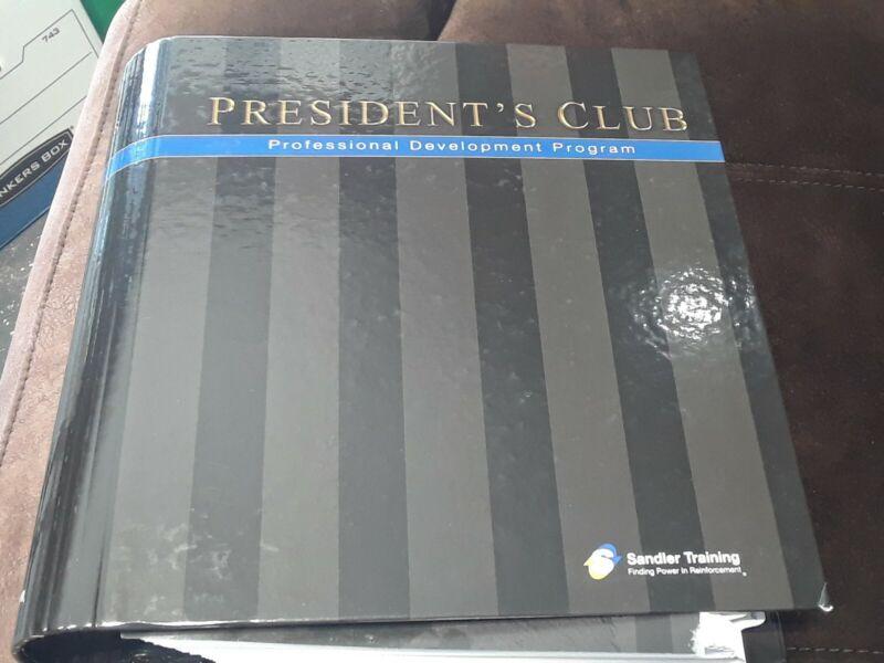 Sandler Sales Institute Presidents Club Professional Development Training