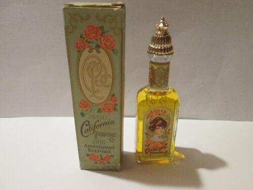 Vintage 1976 Avon California Perfume Anniversary Keepsake Cotillion Cologne Box